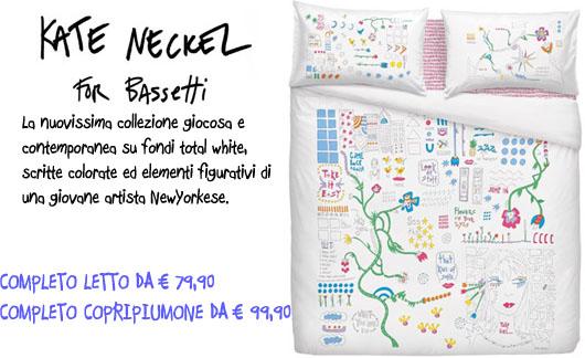 Collezione letto e copripiumone Kate Neckel for Bassetti